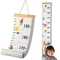 "Hifot Kids Growth Hight Chart, Baby Measuring Chart Cartoon Canvas Wall Hanging Rulers Tape for Kids Children Boys Girls Room Decoration 79"" * 7.9"""