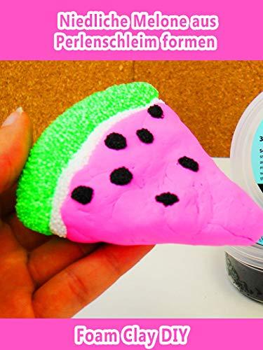 Kreative Clips (Clip: Niedliche Melone aus Perlenschleim Magneten selber machen - Schleim DIY formen - Foam Clay DIY)