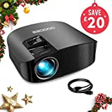 "Projector, GooDee Upgraded 3600 Lumens Video Projector 200"" HD LCD Home Cinema Projector"