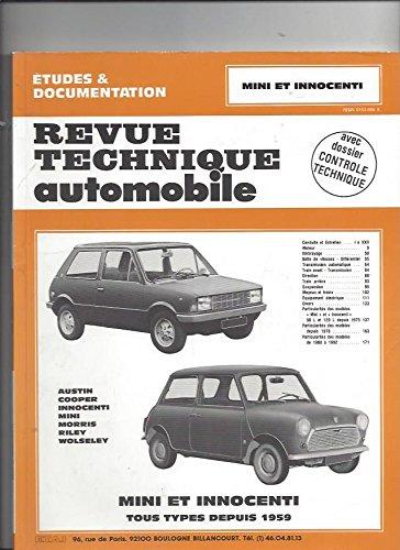 Revue Technique 343.4 Austin Mini et Innocenti (Depuis 1959)