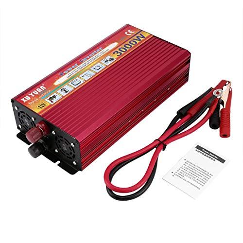 Candybarbar Professionelle 3000 Watt Wechselrichter DC 12 V zu AC 220 V mit Led-anzeige Lüfter Kühlung Universal Buchse Auto Konverter -