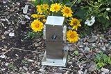 Steckdosensäule Edelstahl Energieverteiler Energiesäule 2-fach IP44 mit Schalter eckig' Made for Licht-Idee®'