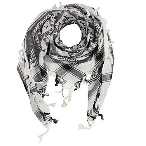 Superfreak Palituch - Totenköpfe kariert weiß - schwarz - 100x100 cm - Pali Palästinenser Arafat Tuch - 100{77a41921e1a742da7aa88de33fc5fe6e02f90097deecf993c956ec8c5e61c5f9} Baumwolle