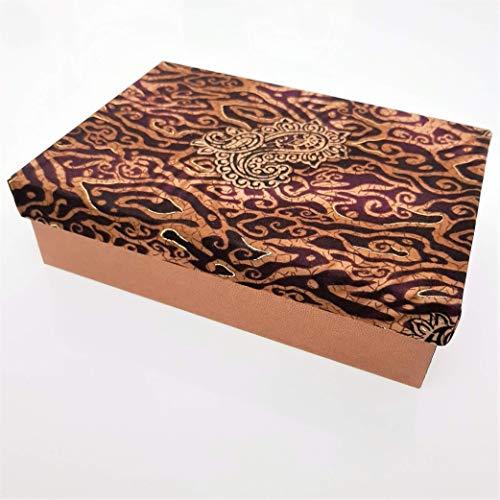 Einfach Seide (Batik Seide Glanz Violett Braune Geschenkverpackung)