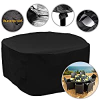 Garden Furniture Cover 94-Inch Outdoor Round Patio Furniture Set Cover 239x80cm