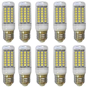 Aoxdi 10X E27 8W LED Corn Light Bulbs, Cool White, 69 SMD 5050 LED E27 Screw ES LED Lights, LED Bulb Lighting, AC220-240V