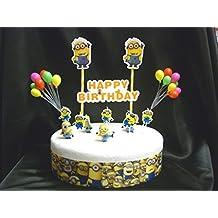 Minions Set de decoración de tarta de cumpleaños