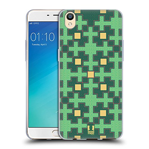 Head Case Designs Croix Verte Glam De Amazon Étui Coque en Gel molle pour Oppo R9 / F1 Plus