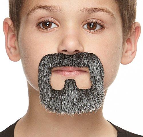 ende Kleiner Inmate Fälschen Bart für Kinder Salz und Pfeffer Farbe ()