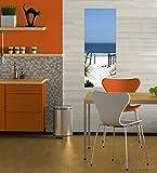 Wallario selbstklebendes Poster – Blick auf Strand in Premiumqualität, Größe: 50 x 125 cm - 2