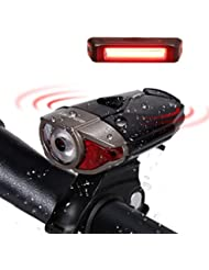 LED Wiederaufladbare Akku LED Stirnlampe Fahrradbeleutung,CREE XPG LED 3W Fahrradlampe Set mit 2 USB-Kabel,LED Frontlicht & Rücklicht,Superhelle, Wasserdichte Fahrradlicht für Radfahren,Camping