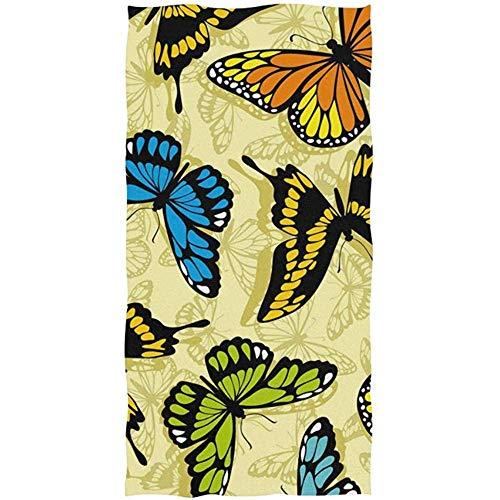 Badetuch Schmetterling weiche Handtücher Gym Sport 27,5 * 15,7 Zoll