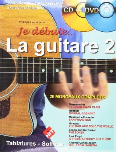 Je Débute la Guitare Vol 2 (+ 1 CD +1 DVD) par Heuveline Philippe