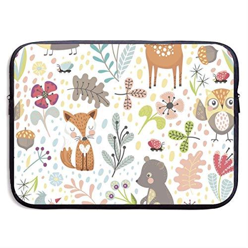 Riccio colorato con animali da cartone animato borsa per laptop da 13-15 pollici - custodia per valigetta per borse per macbook pro/notebook