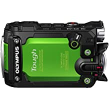"""Olympus TG-Tracker - Cámara de acción de 7.2 MP (pantalla abatible de 1,5"""", GPS, WiFi, estabilizador de 5 ejes, video 4K), verde"""
