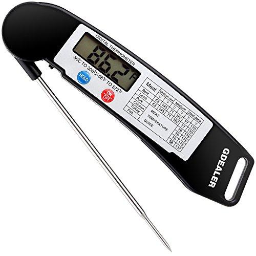 meter, gdealer Super schnelle Digitale Elektronische Lebensmittel Thermometer Kochen Thermometer Grill Fleisch Thermometer mit klappbar interner Sonde für Grill Kochen Fleisch Küche Candy ()