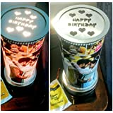 """Geet Creations Personalize 14"""" Inch Rotating Lampshades/ Revolving Photo Lamp For Mother's Day, Gift For Mom, Gift For Him, Gift For Her, Gift For Boyfriend, Gift For Girlfriend, Gift For Husband, Gift For Wife, Anniversary/Birthday"""