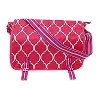 All For Color Pink Quatrefoil Messenger Bag
