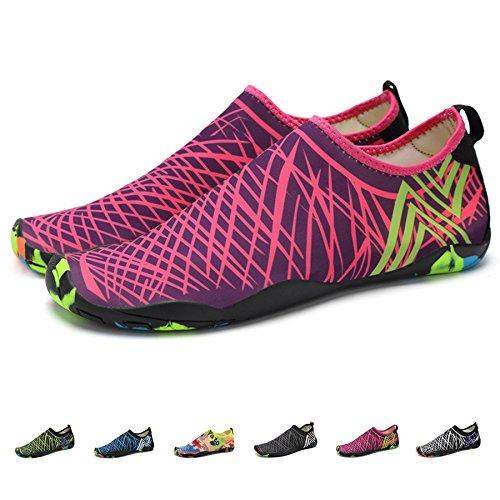 Chaussures et Sacs Mens Womens Rapide Sec Sport Aqua Chaussures Unisexe Nager Marche Yoga lac Plage Jardin Parc Conduite Nautique Chaussures,d,44 Hy Chaussures deau