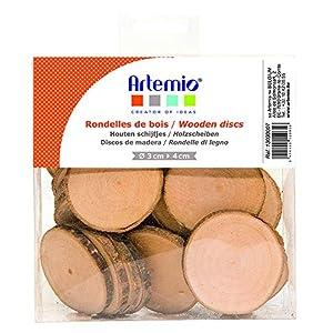 Artemio – Discos de Madera (180 g, 40 Unidades), Color marrón Madera