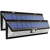 [2 Pezzi]Luce Solare Mpow di 54 LED, Lampada Wireless ad Energia Solare da Esterno Impermeabile con Sensore di Movimento, 3 Modalità Funzione, per Parete, Muro, Giardino, Terrazzino, Cortile, Casa ecc