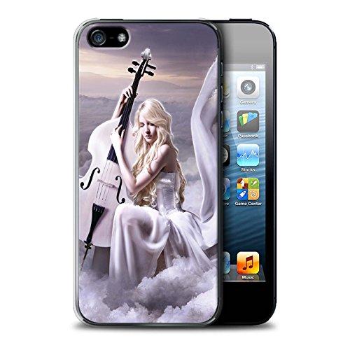 Officiel Elena Dudina Coque / Etui pour Apple iPhone SE / Pack 6pcs Design / Réconfort Musique Collection Violoncelle/Nuages