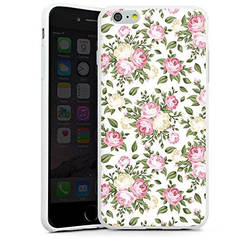 Apple iPhone X Silikon Hülle Case Schutzhülle Flower Rosen Frühling Silikon Case weiß