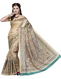 [Sponsored]Rani Saahiba Art Bhagalpuri Silk Madhubani Printed Saree