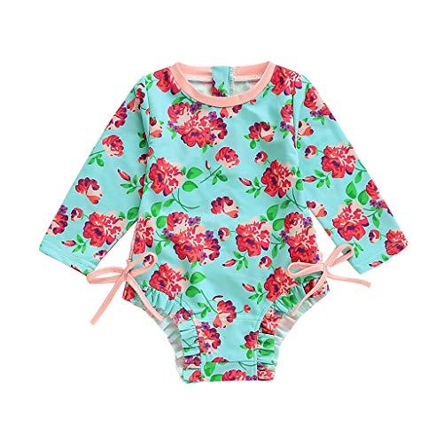 Body Bañador para Bebé Niñas, Protección Solar Traje de baño Bebes Niños Niñas Infantil bañador...