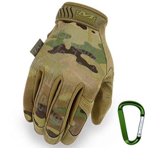 Mechanix Handschuhe The Original Glove verschiedene Farben (M, Multicam + Karabiner)