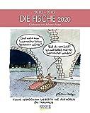 Fische 2020: Sternzeichenkalender-Cartoonkalender als Wandkalender im Format 19 x 24 cm. -