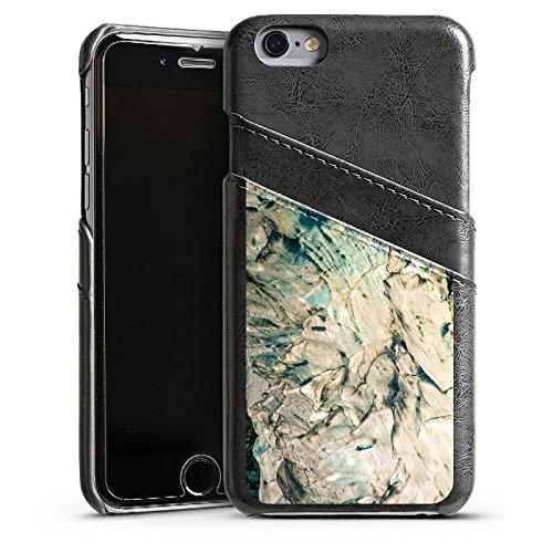 Apple iPhone 4 Housse Étui Silicone Coque Protection Pierre Grain Rochers Étui en cuir gris
