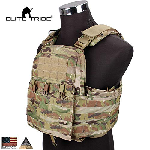 eLITe Tactical Vest CPC Airsoft Plate Carrier Body Armor Jagd Military Camo -