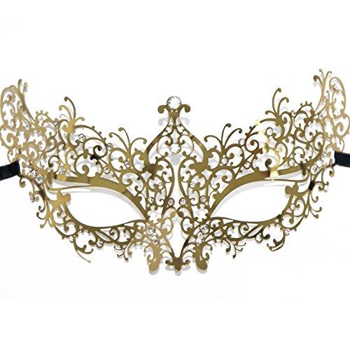 Signstek Deluxe Laser Cut venezianischen Boutique filigranen Masquerade Metall Maske