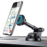 AINOPE Handyhalterung Auto Magnet, Universal Autotelefonhalterung Autohalterung Handy Halter KFZ Halterung Autotelefonhalter handyhalter Smartphone mit Teleskoparmkompatibel für Phone (Schwarz)