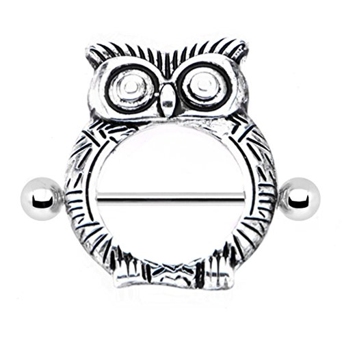 hooter-owl-feather-texture-nipple-bar-shield-16mm