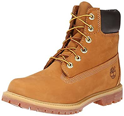 Timberland Af 6In Prem Wheat Nb Yellow, Stivaletti, Donna, Giallo (Weizen (Wheat Nubuck)), 35.5