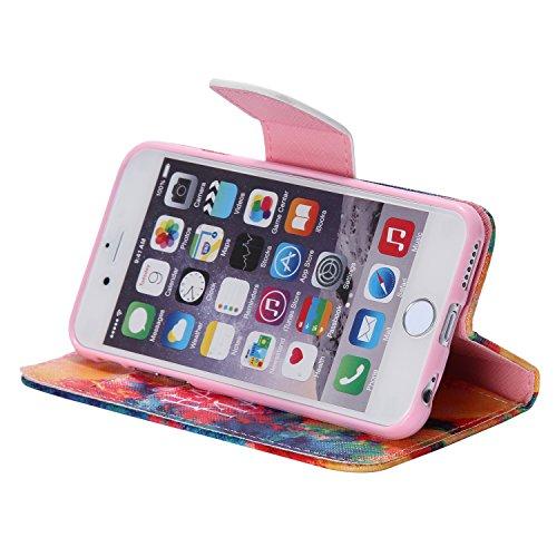 PU Cuir Coque Strass Case Etui Coque étui de portefeuille protection Coque Case Cas Cuir Swag Pour Apple iPhone 6 (4.7 pouces) +Bouchons de poussière (10LY) 15