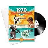 Cadeaux d'anniversaire ou d'anniversaires en 1970 - 1970 Carte 4-en-1, CD, cadeau et téléchargement pour hommes et femmes