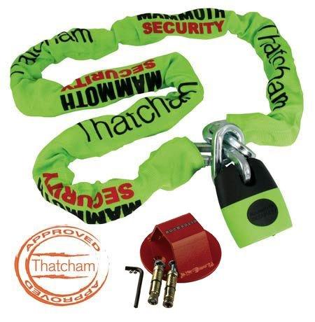 Thatcham-zertifiziert (britischer KFZ-Versicherer) Kette &Lock 1,8 m Rocksolid Bodenanker Security Kit für Motorrad
