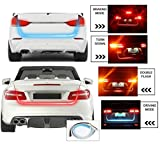 #7: Benjoy CAR Tailgate LED Strip Light, Car Rear Tail Lights Streamer Brake Turn Signal LED Lamp Strip Waterproof, Car LEDs Strips Braking light free switch - Red and Blue Color For All Car