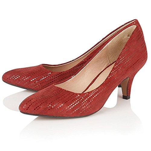 Lotus Damen Dandelion Pumps Red Leather Print
