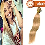 Dai Weier Brazilian Straight Hair Honey Blonde Single 20 Inch Weave Bundles 100% Remy Human Hair Extension Sew In Weave #27
