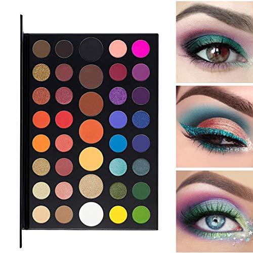 Berrose-15 Farben Paillette Lidschatten Glitter Lidschatten Pulver Palette Matt Lidschatten Kosmetik Make-up (39 Farbe, D)