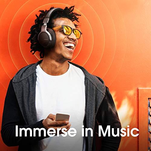 AUSDOM ANC8 Active Noise Cancelling Kopfhörer, Bluetooth Kopfhörer, Noise Cancelling Kopfhoerer mit Super HiFi, Faltbare, Komfortabler Ohrpolster, Integiertes Mikrofon, 20 Stunden Spielzeit - 5