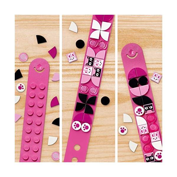 LEGO- Dots Braccialetto Animaletti Funky con Fascia Regolabile Rosa e Decorazioni per Creare Il Tuo Look Preferito, Kit… 4 spesavip