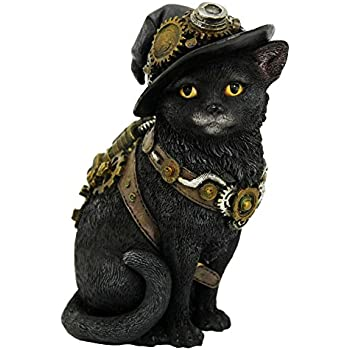 Collectible Gothic Ornament Steampunk Cat Figurine Stunning Cogsmiths Cat