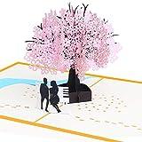 Austinstore 3D Pop up Grußkarte Sakura Baum Festival Geburtstag Karten Thank You Karte, Papier, 2#, 20cm x 15cm/7.87