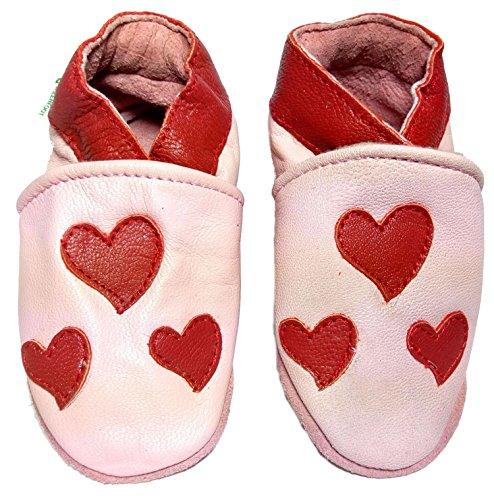 Krabbelpuschen Herzen Motive Wahl Babyschuhe 16 Hausschuhe Krabbelschuhe Zur 1Px0dq1n