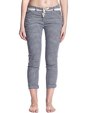 [Patrocinado]Abbino 6039-1 Karo Pantalón con Lazo para Mujer 2 Colores - Fashion Entretiempo Primavera Verano Otoño Sensibilidad...